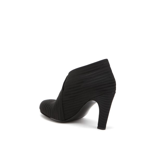 United Nude Fold Hi Black Rib Elastic Boot