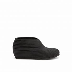 United Nude Fold Lo Black Rib Elastic Booties